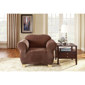 Pique Separate Seat Box Cushion Armchair Slipcover by Sure Fit