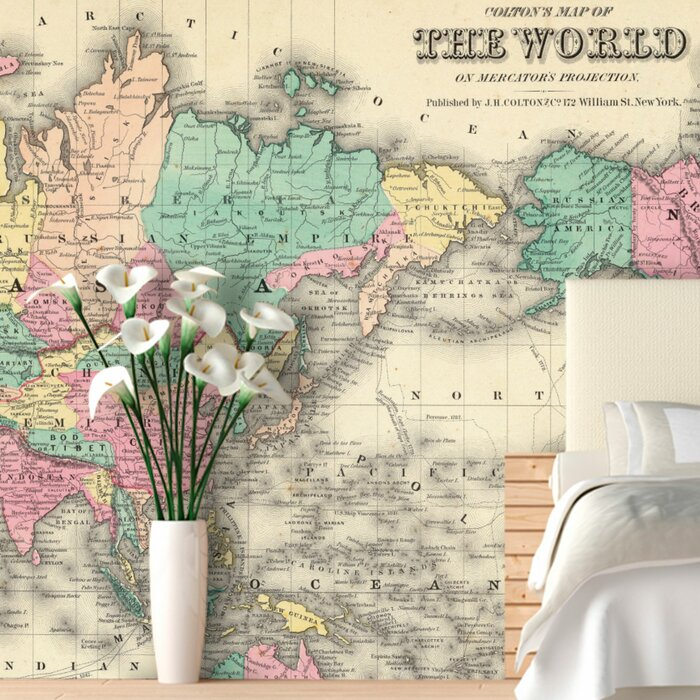 Swag Paper Colourful World Map Wall Mural