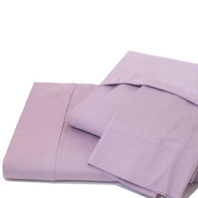 600 Thread Count 100% Cotton Jersey Deep Pocket Sheet Set Ardor Home Color: Lavender