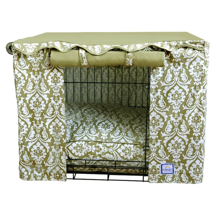 Dog Crate Covers bowhausnyc damask dog crate cover & reviews | wayfair