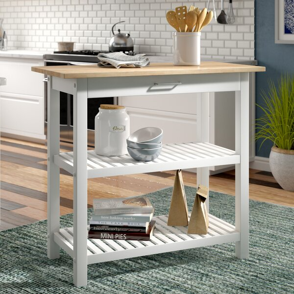Kitchen Stools Lakeland: Beachcrest Home Lakeland Kitchen Island & Reviews