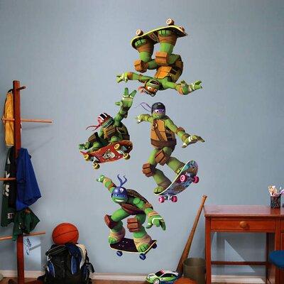 Nickelodeon Teenage Mutant Ninja Turtles Skateboarding Peel and Stick Wall  Decal