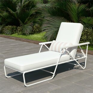 Metal Patio Chaise Lounges You Ll Love Wayfair