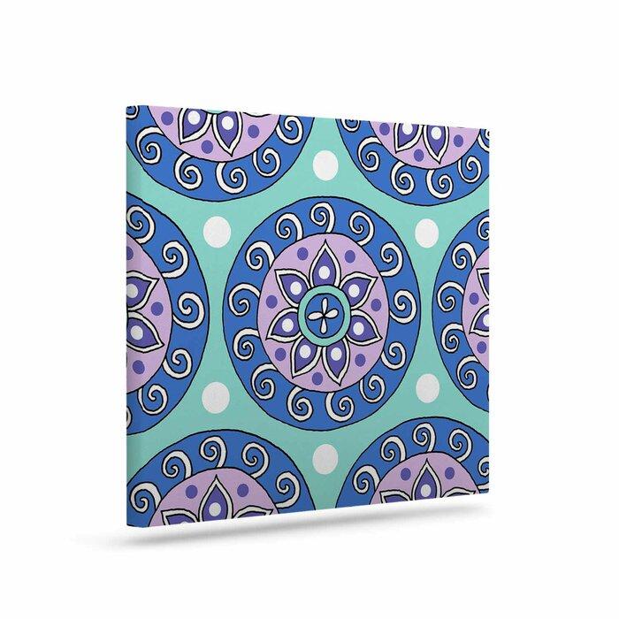 Mandala Dot Graphic Art Print On Canvas