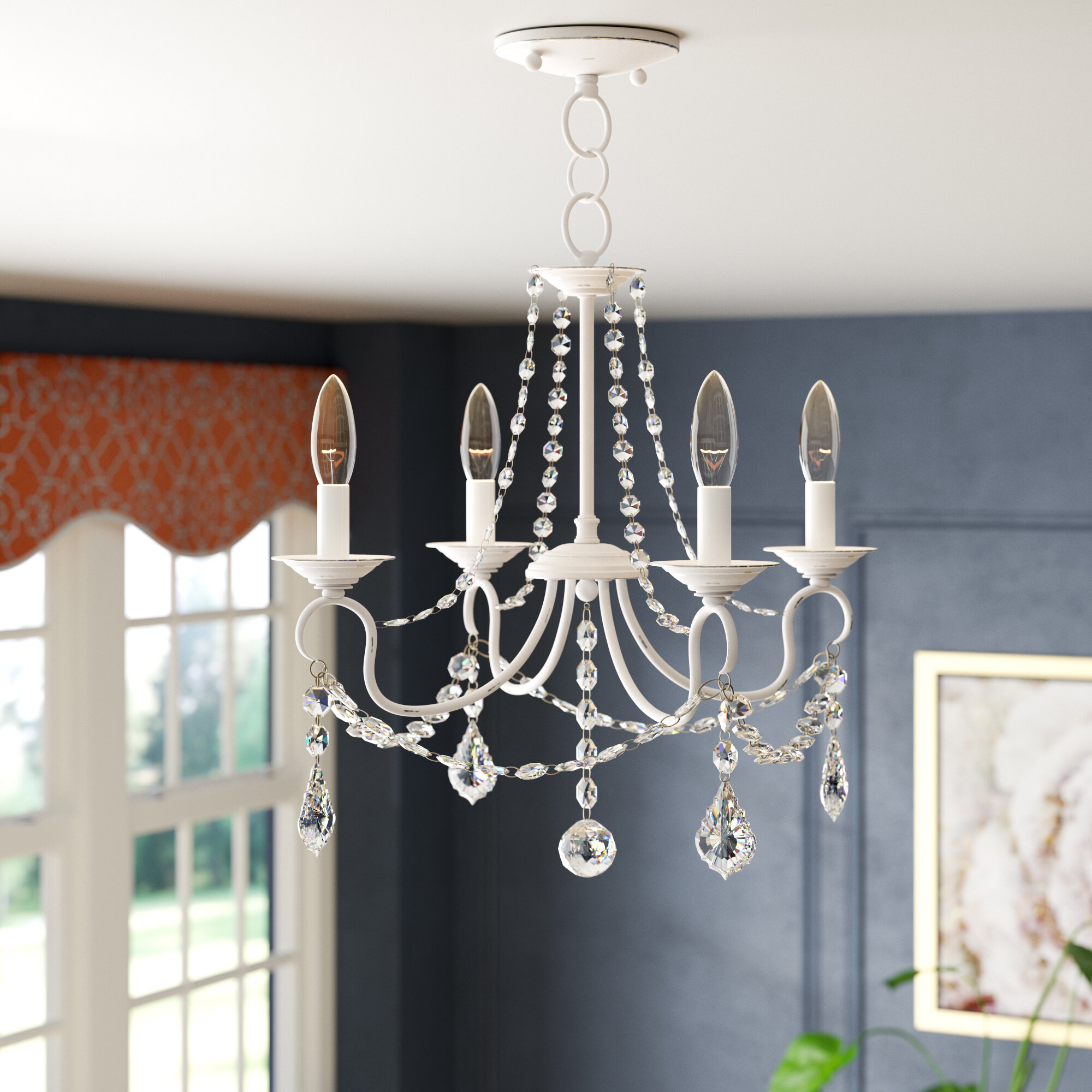 Willa arlo interiors devana 4 light candle style chandelier reviews wayfair