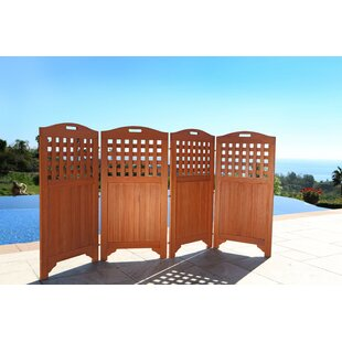 W Outdoor Wood Privacy Screen