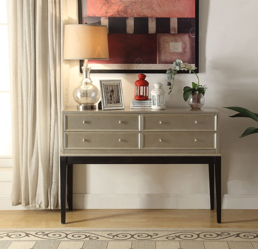 Nala Antique Silver 4 Drawer Accent Chest - Rosdorf Park Nala Antique Silver 4 Drawer Accent Chest & Reviews