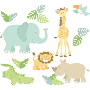 Caileigh Safari Buddies Large Wall Decal Kit