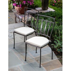 Eastchester Stacking Patio Dining Chair with Cushion (Set of 2)