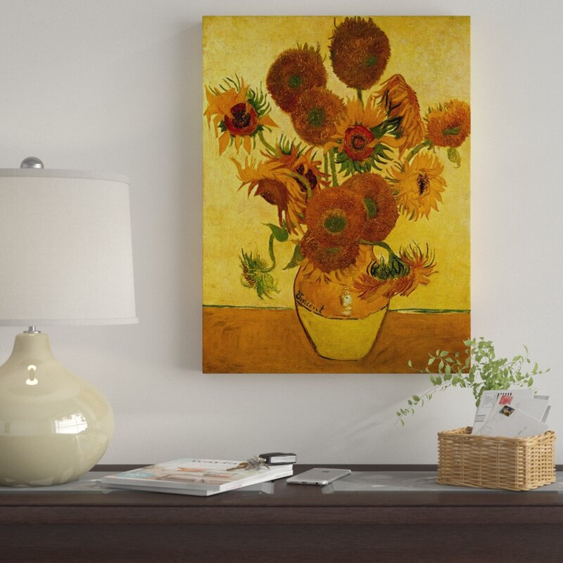 404ba272adc  Vase with Sunflowers  by Vincent Van Gogh Painting Print on Canvas.