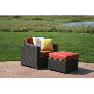 Loggins Patio Chair with Cushion and Ottoman  sc 1 st  Wayfair & Outdoor Chair With Ottoman | Wayfair