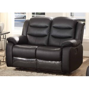 Bennett Leather Reclining Loveseat by AC Pac..