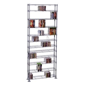 Max Steel 11 Tier Multimedia Storage Rack by Atlantic