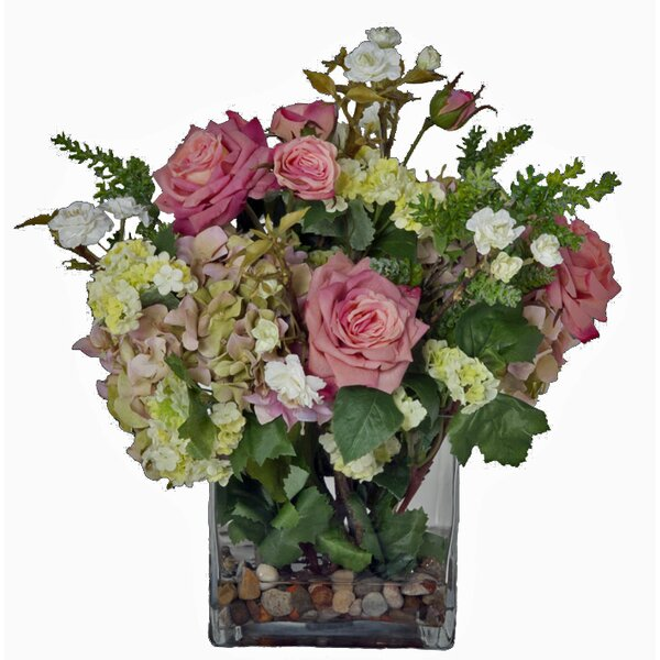 Faux Pink Flowers In Vase Wayfair