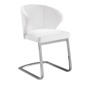 boston genuine leather upholstered dining chair