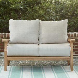 Lovely Summerton Teak Loveseat With Cushions