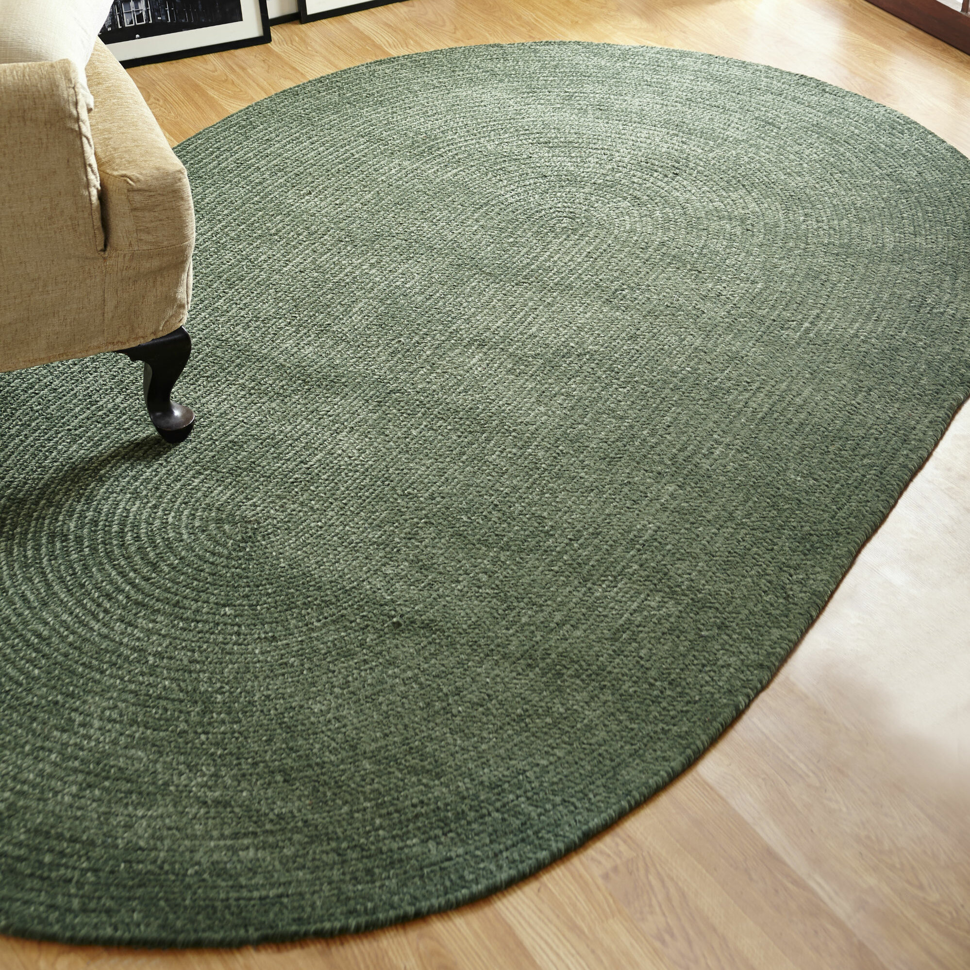 Better Trends Chenille Reversible Green Indoor Outdoor Area Rug Wayfair