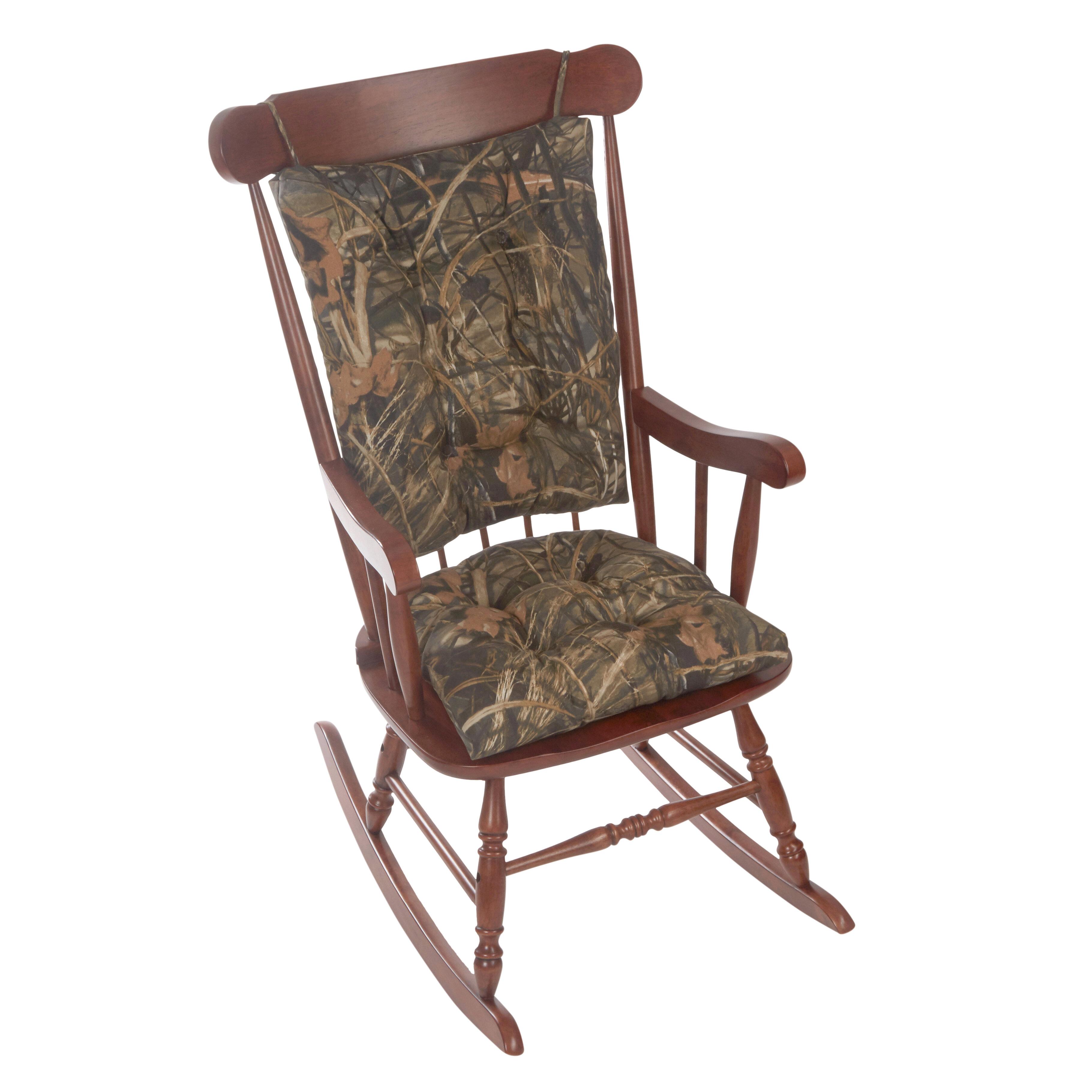 Gripper Realtree Jumbo Indoor Outdoor Rocking Chair Cushion