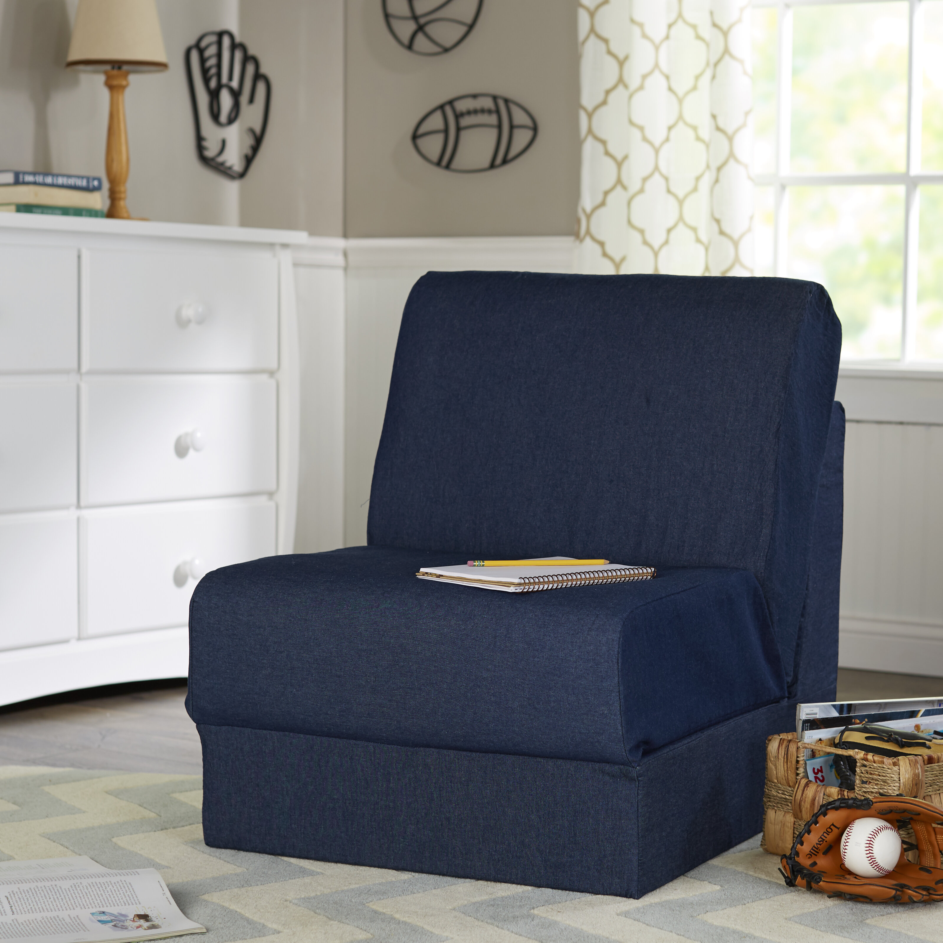 Fun Furnishings Teen Denim Foam Chair U0026 Reviews | Wayfair