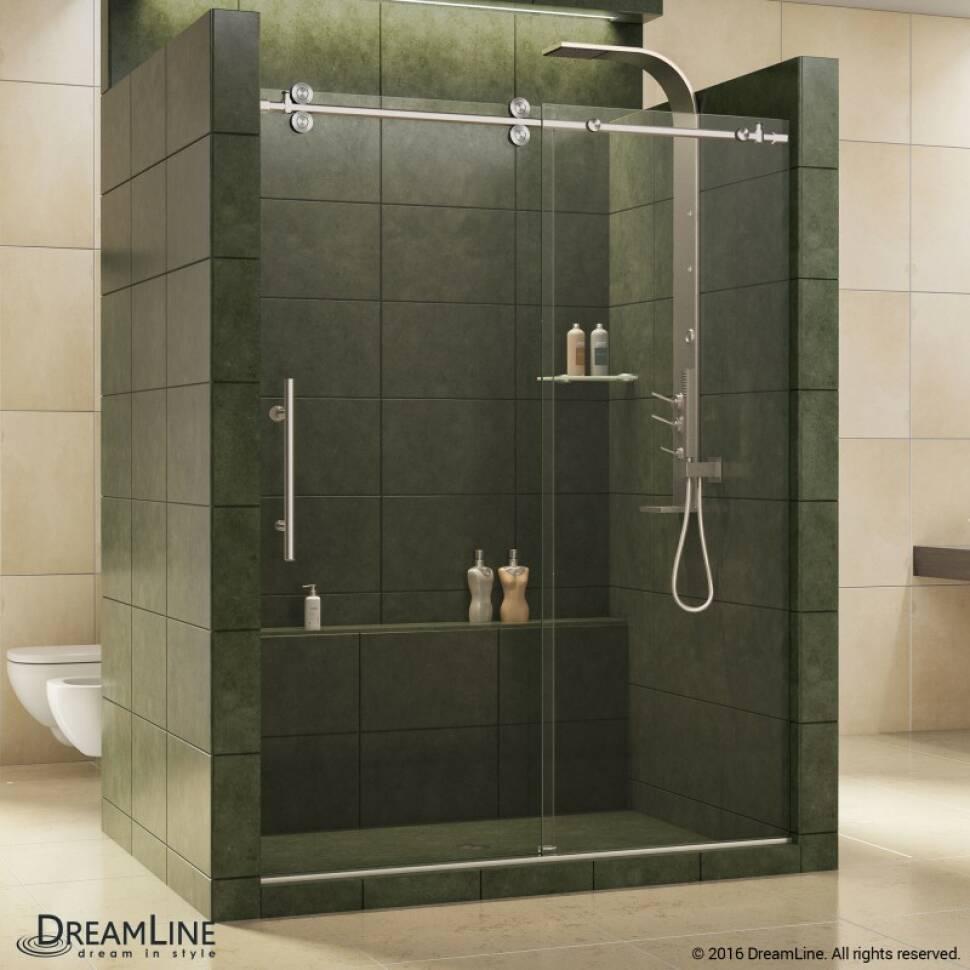 Elegant Fully Frameless Sliding Shower Door