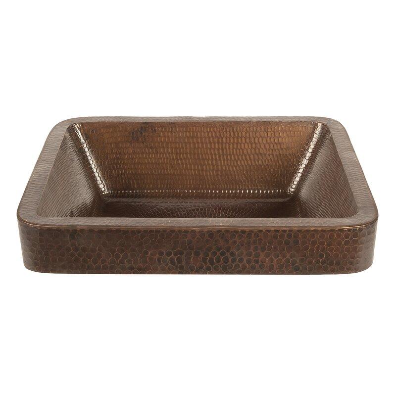 Premier Copper Products Metal Rectangular Vessel Bathroom Sink Wayfair