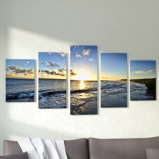 e67f32ea6d69  Day Break  5 Piece Photographic Print Set on Canvas