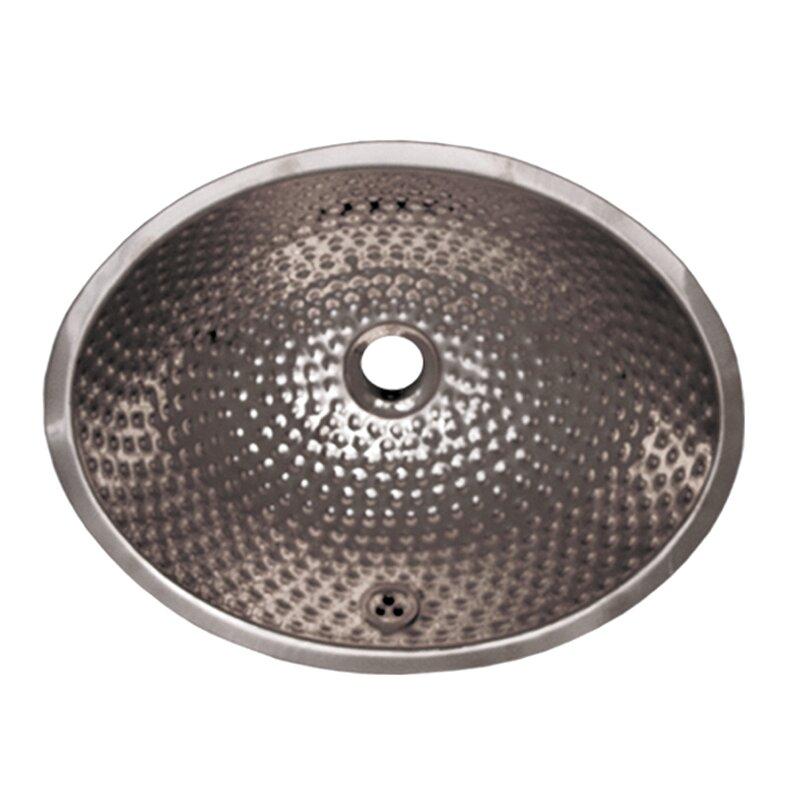 Whitehaus Collection Decorative Oval Undermount Bathroom Sink with ...