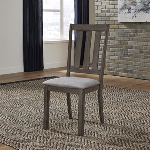 Ladwig Slat Back Upholstered Dining Chair (Set of 2)