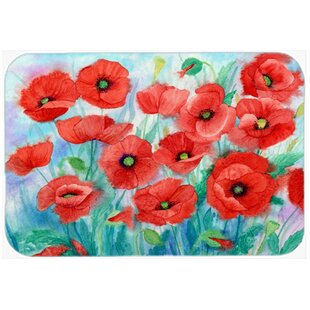 Poppies Kitchen/Bath Mat