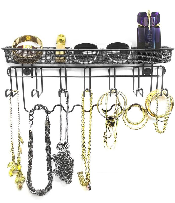 Sorbus Wall Mounted Jewelry Organizer Holder & Reviews | Wayfair