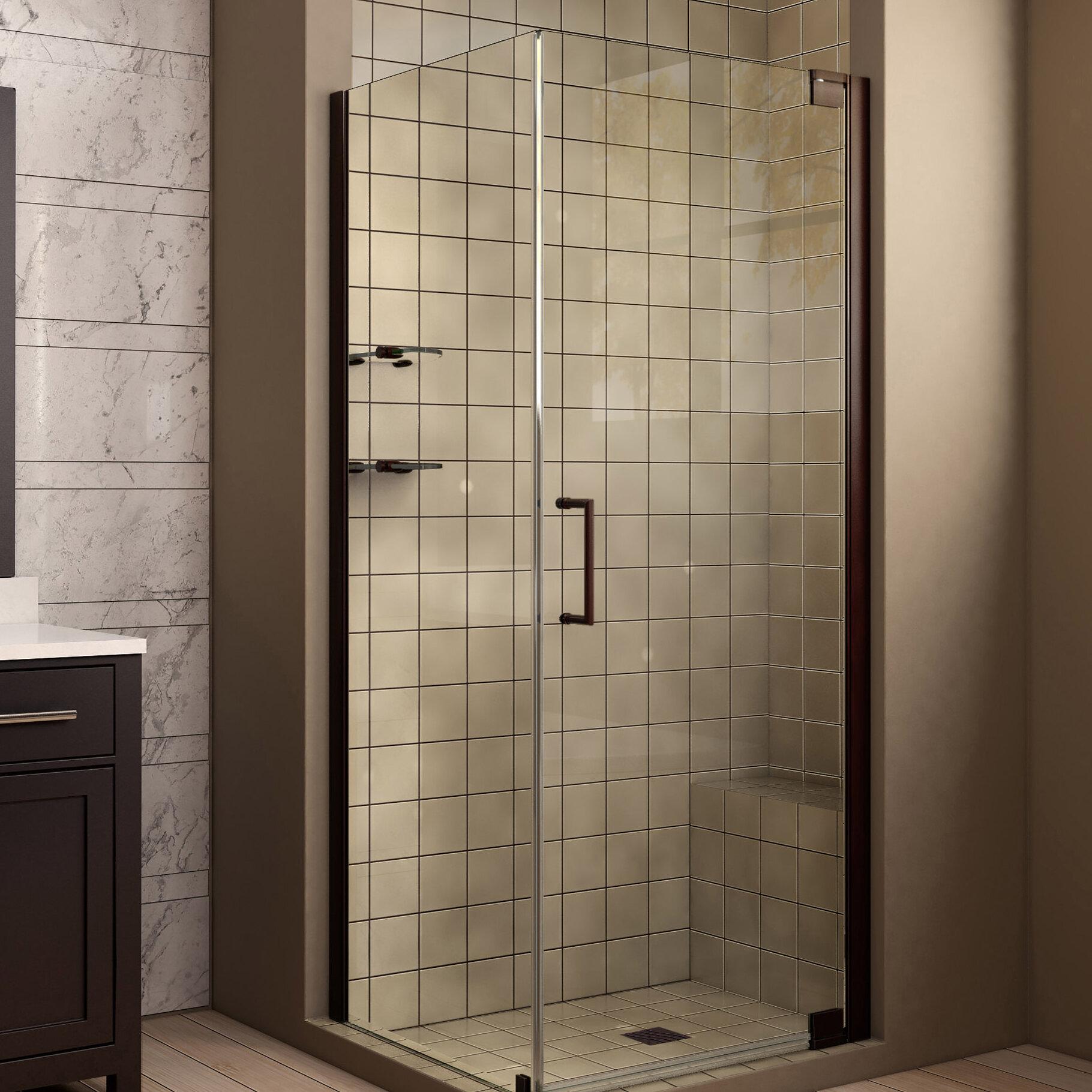 Dreamline Elegance 34 X 72 Pivot Frameless Shower Door With Clear
