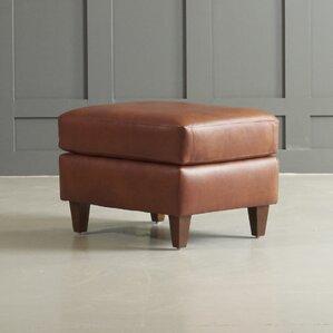 Jesper Leather Ottoman by ..