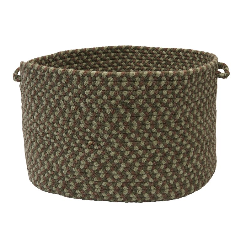 "Alcott Hill Lettie Utility Basket  Size: 18"" x 12"", Color: Moss Green"