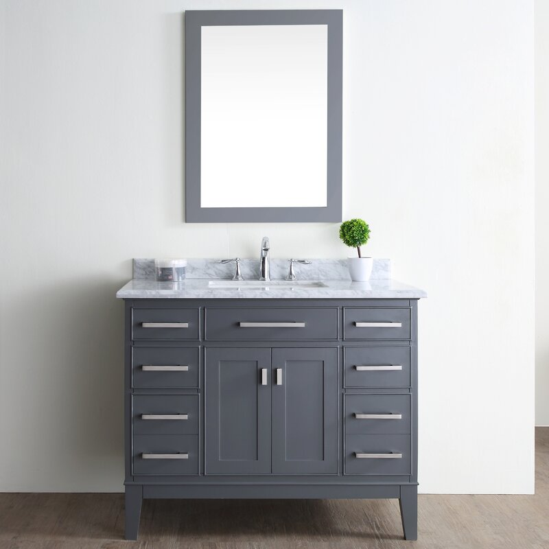 "ari kitchen & bath danny 42"" single bathroom vanity set & reviews"