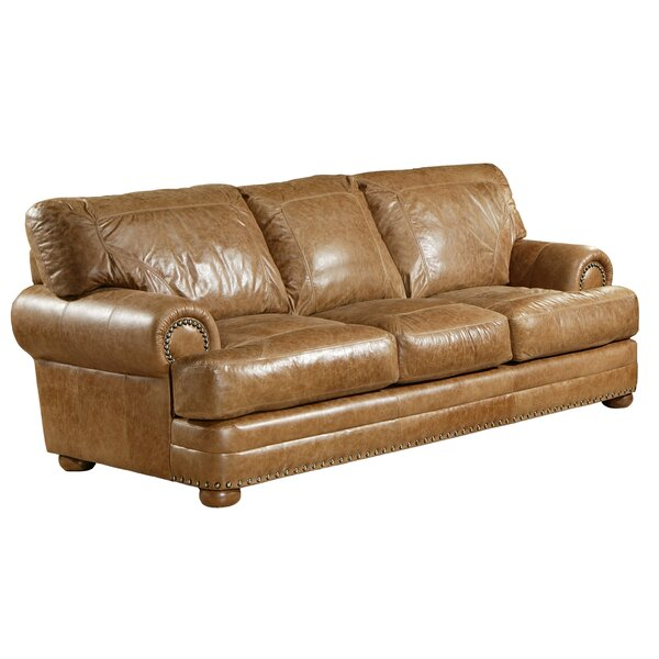 Houston Leather Couch | Wayfair