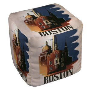 Boston Architecture Ottoman by Manual Woodworkers & Weavers