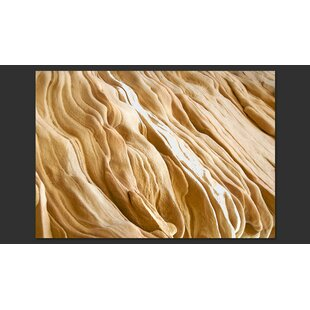 Wavy Sandstone Forms 193cm x 250cm Wallpaper by East Urban Home