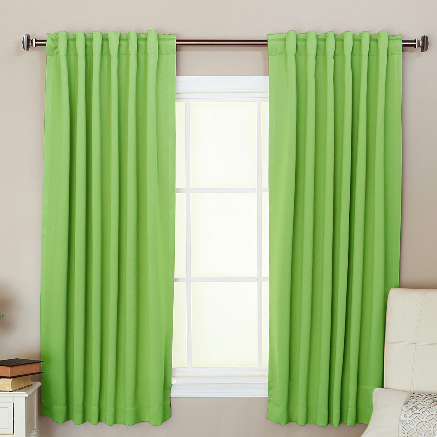 Green Blackout Curtain Panels Best Home Decorating Ideas