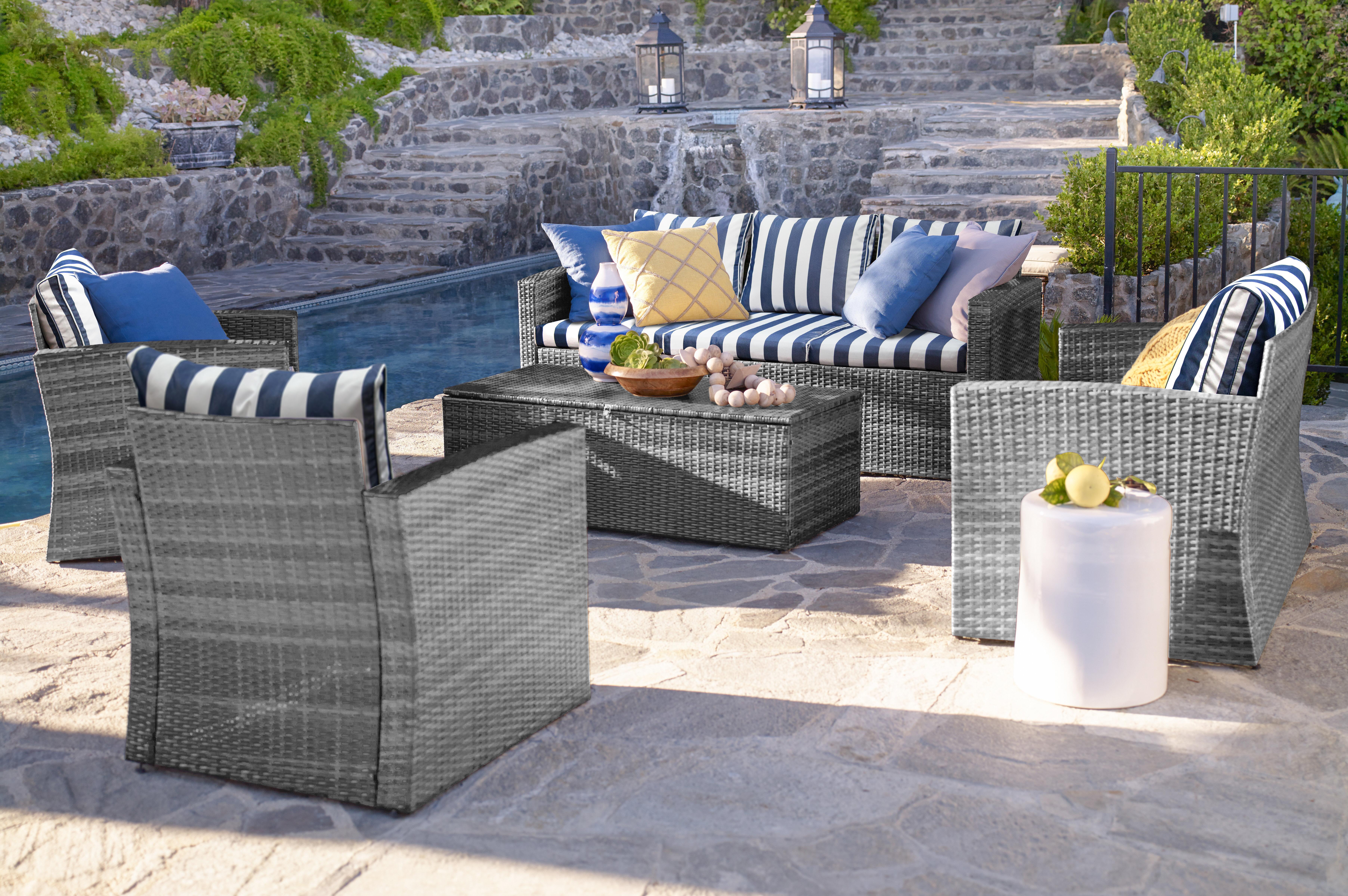 Breakwater bay ridgemoor 5 piece rattan sofa seating group with cushions reviews wayfair
