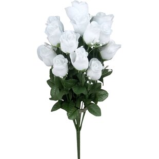 Rose white artificial flowers youll love wayfair save mightylinksfo