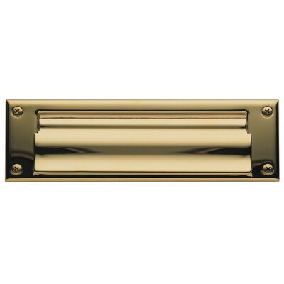 Baldwin 10 in x 3 Brass Mail Slot Color: Gold