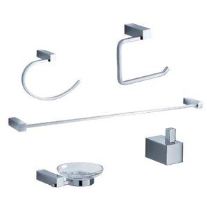 Glenpool 5-Piece Bathroom Hardware Set