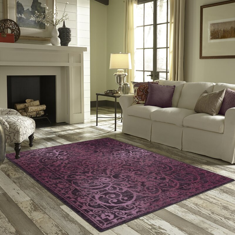 Beautiful Charlton Home Landen Purple Area Rug Reviews Wayfair
