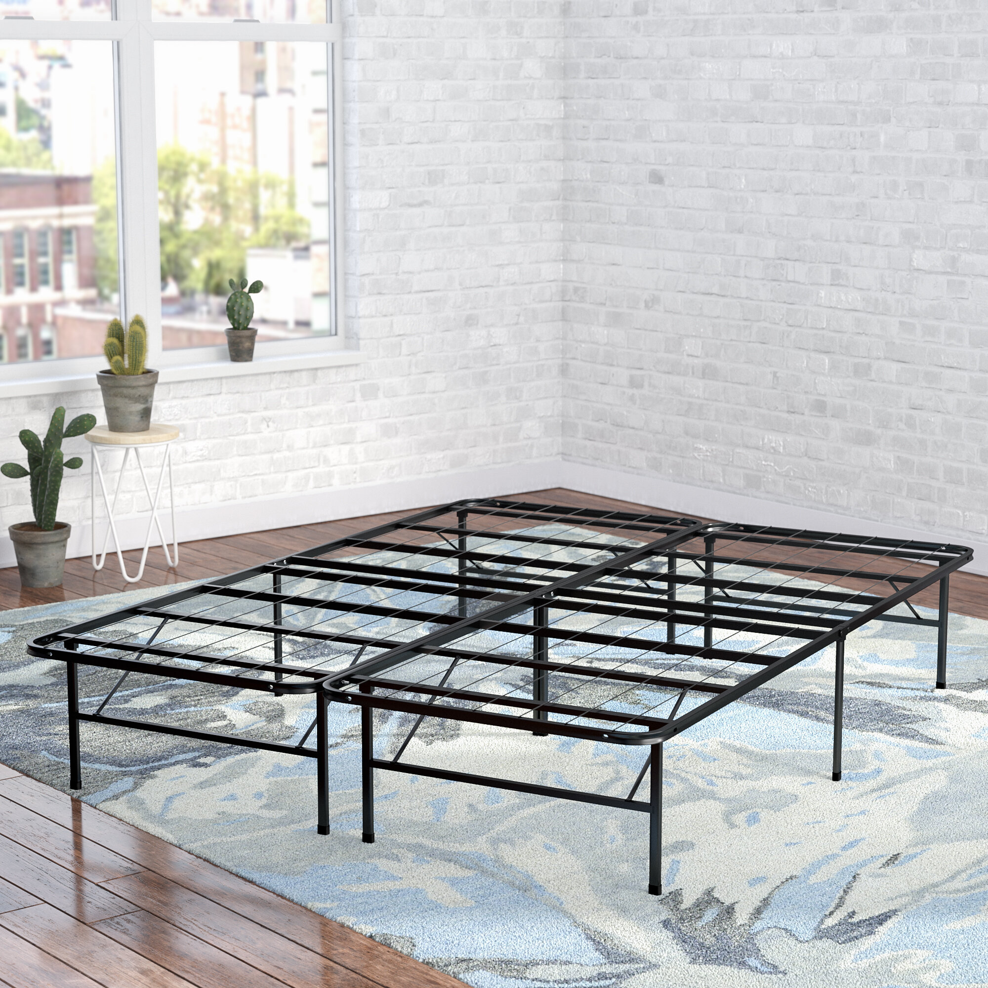 boxspring no platform com frame with support modern mattress needed wooden studio metal foundation headboard bed slat ip walmart twin