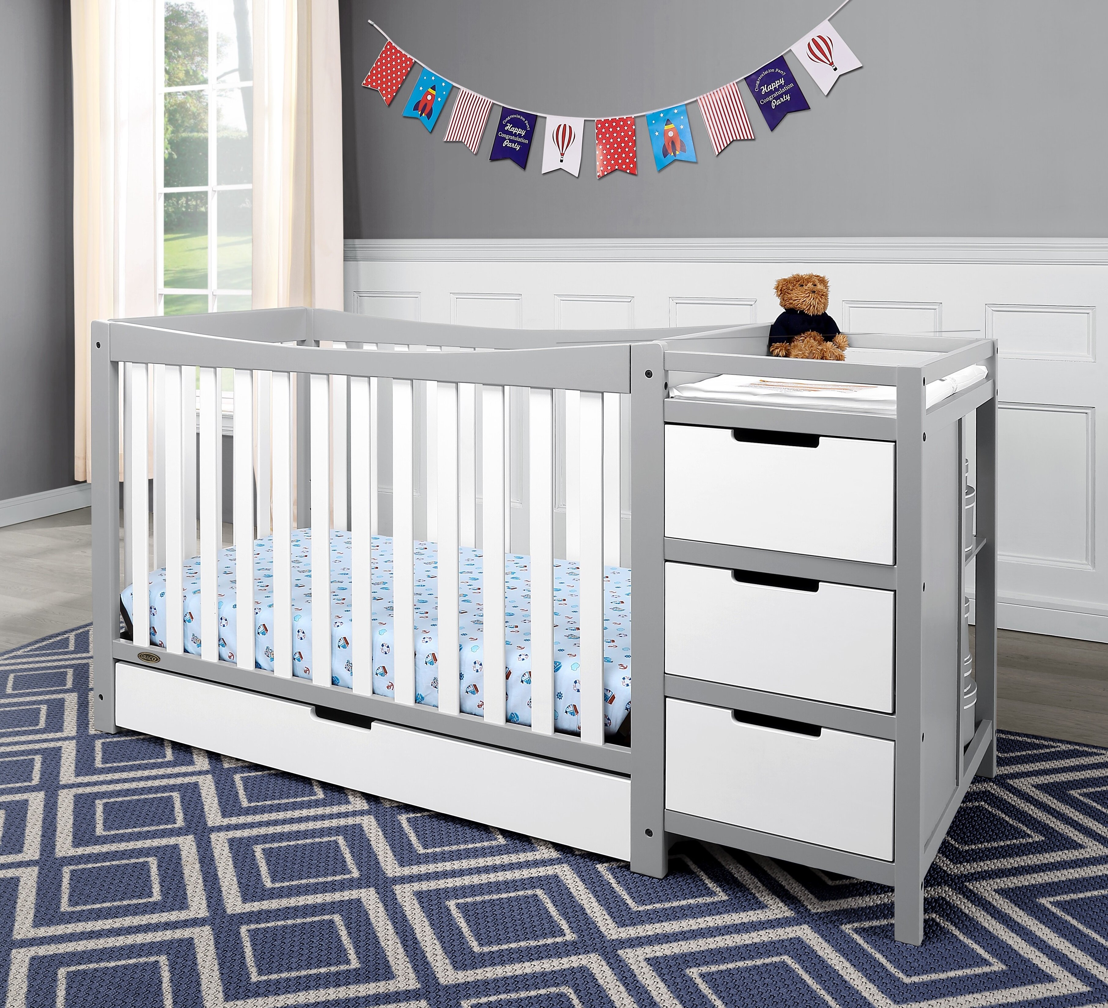 Graco remi 3 in 1 convertible crib and changer combo reviews wayfair