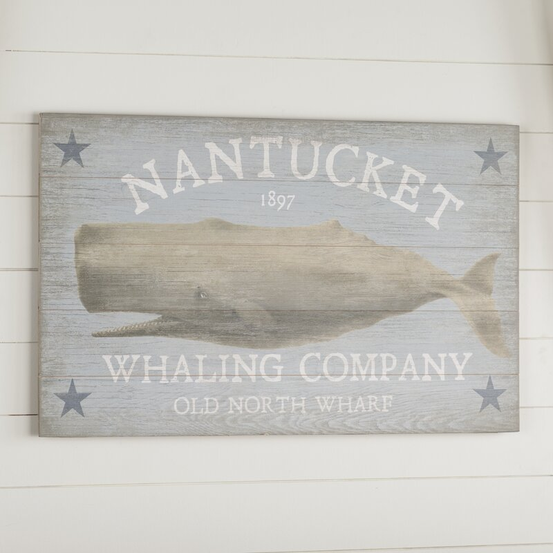 Vineyard Whale Vintage Advertisement Plaque