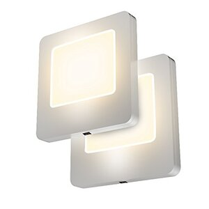LED Night Light with Dusk to Dawn Sensor (Set of 2)