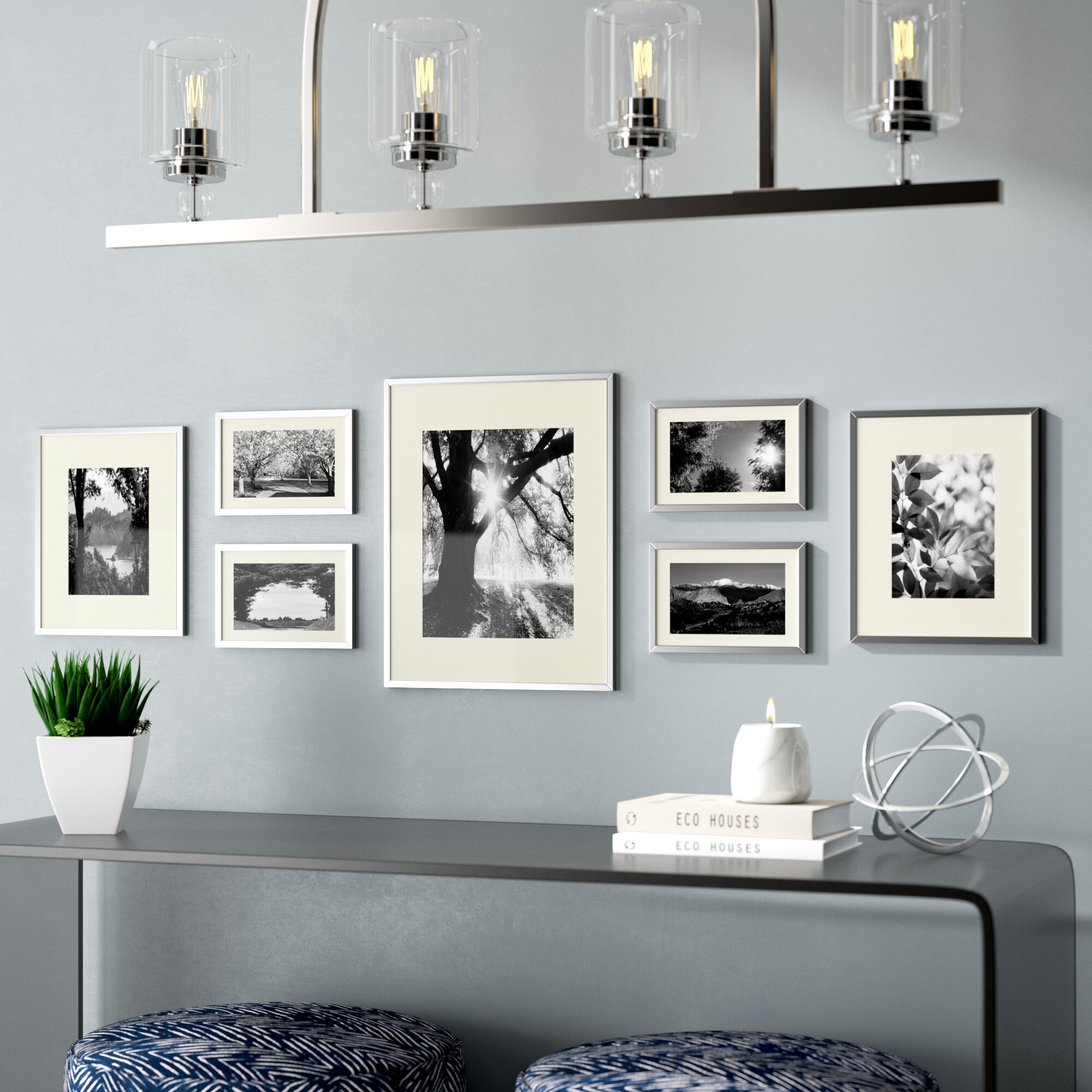 Alisson 7 Piece Gallery Wall Aluminum Picture Frame Set & Reviews ...