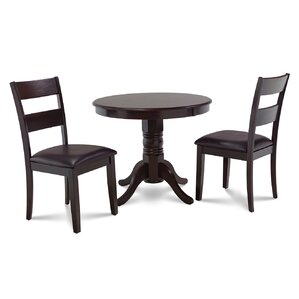 Cedarville 3 Piece Cappuccino Dining Set by Alco..