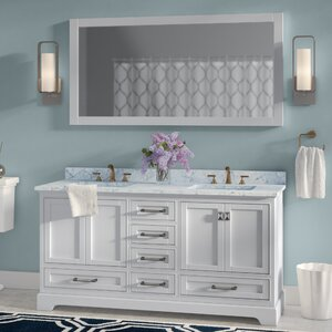 Save to Idea Board  Gray White Willa Arlo Interiors Stian 60 Double Sink Bathroom Vanity Vanities You ll Love Wayfair